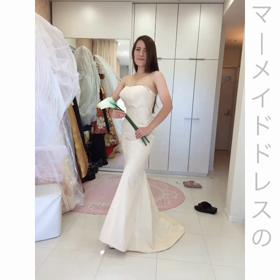 振袖マーメイドドレスの仮縫い★シルエットがキレイに見えるステップの画像