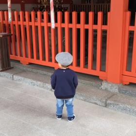 1歳児の参拝の仕方⛩成長しましたの画像