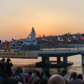 インド研修報告⑤アシュラム観光、アラティ体験の画像