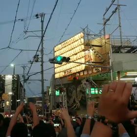 堺市鳳地区のだんじり祭り かみやぶりの画像