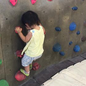 子連れボルダリング〜1歳児ボルダリングの画像