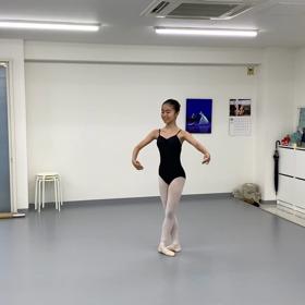 ネコちゃんのバレエステップの画像