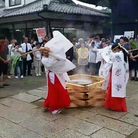 広峯神社の夏越(なごし)の大祓(おおはらえ)、茅の輪くぐりへ!!の画像