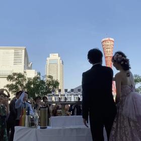 ご結婚披露宴ガーデンカクテルショーの画像