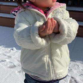 人生初雪だるまの画像